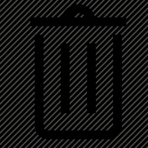 bin, close, delete, garbage, recycle, remove, trash icon