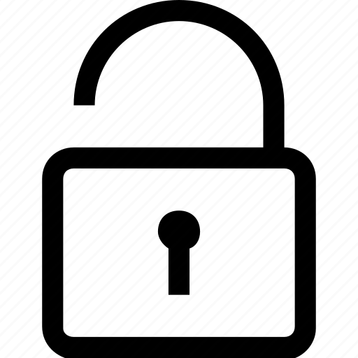 lock, open, password, safe, secure, security, unlock icon