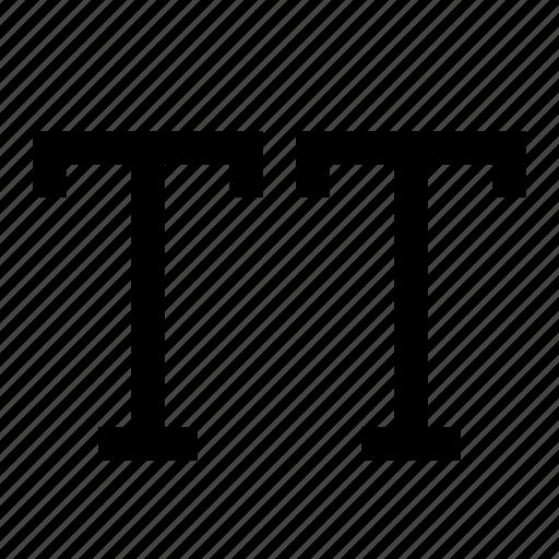 text, type, uppercase icon