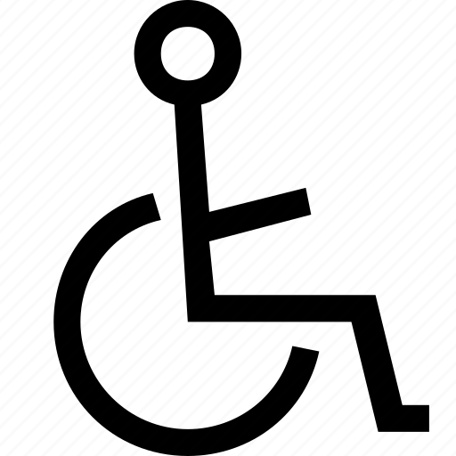 chair, disable, disabled, handicap, person, user, wheelchair icon