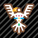antique, aztec, bird, civilization, pyramid, sacred, totem icon
