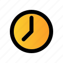 business, clock, filled, hour, line, management, time icon
