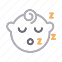 baby, child, face, kids, sleeping icon
