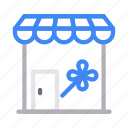 building, cart, market, shop, store icon