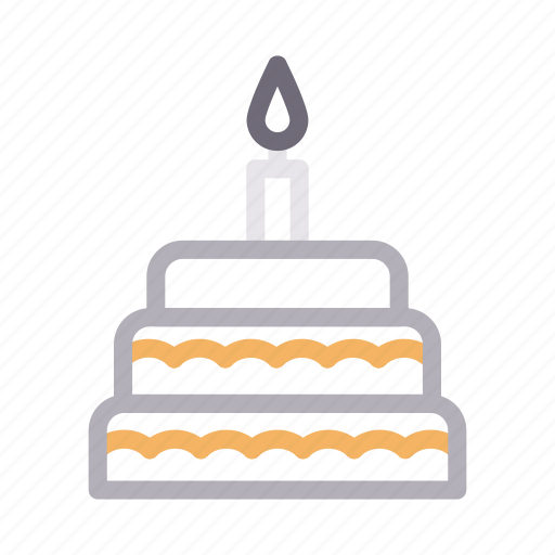 Birthday, cake, candle, food, sweet icon - Download on Iconfinder
