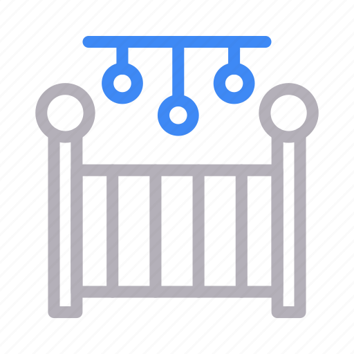 Baby, bed, cradle, pram, toys icon - Download on Iconfinder
