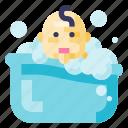 baby, bath, child, infant, kid, newborn, toddler
