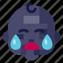 baby, child, crying, infant, kid, newborn, toddler icon