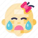 baby, child, crying, girl, infant, kid, toddler icon