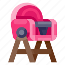 baby, chair, child, feeding, infant, kid, toddler icon