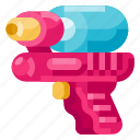 baby, child, infant, kid, newborn, toddler, water gun icon