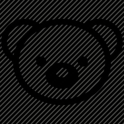baby, bear, bear ficial, face, teddy, teddy face icon