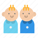 baby, kids, people, twin icon