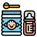 baby, box, cans, milk icon