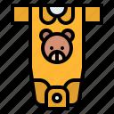 baby, childhood, cloth, romper icon