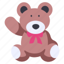 toy, gift, animal, bear, cute, teddy, happy