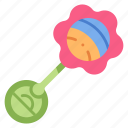 toy, rattle, play, baby, child, object, newborn icon