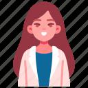 pediatrician, doctor, woman, kind, person icon