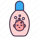 shampoo, soap, bathing, baby, kid, bottle, shower icon