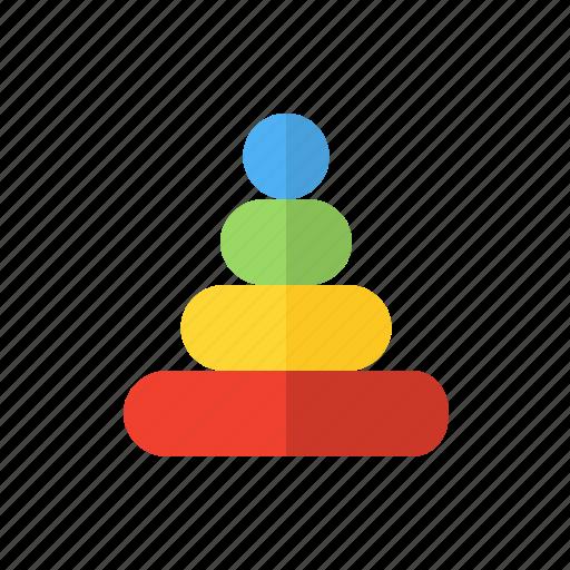 Childhood, children, motherhood, pyramid icon - Download on Iconfinder