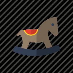 children, horse, rocking, toys icon icon
