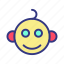 baby, child, face, fun, toy icon