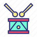 baby, child, drum, fun, toy icon
