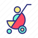 baby, child, fun, stroller, toy icon