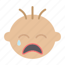baby, boy, child, cry, face, head, infant icon