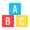 abc, alphabet, baby, block, cube, education, toy