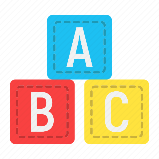 abc, alphabet, baby, block, cube, education, toy icon