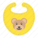 baby, bear, bib, child, clothes, kid, newborn icon