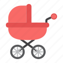 baby, born, buggy, carriage, kid, pram, pushchair icon