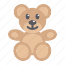 baby, bear, happy, kid, plush, teddy, toy