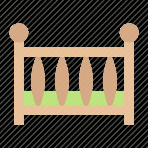 baby, bed, child, cot, crib, newborn, sleep icon