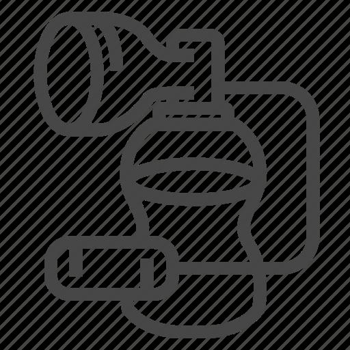 breast, feeding, milk, pump, suction icon