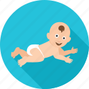 baby, child, crawl, crawling, infant, kid, newborn icon