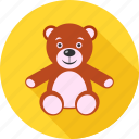 bear, kid, teddy, teddy bear, teddybear, toy, toys icon