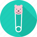 kid, kids, pin, pins, safety, safety pin icon