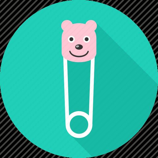 kid, kids, pin, pins, safety, safety pin icon