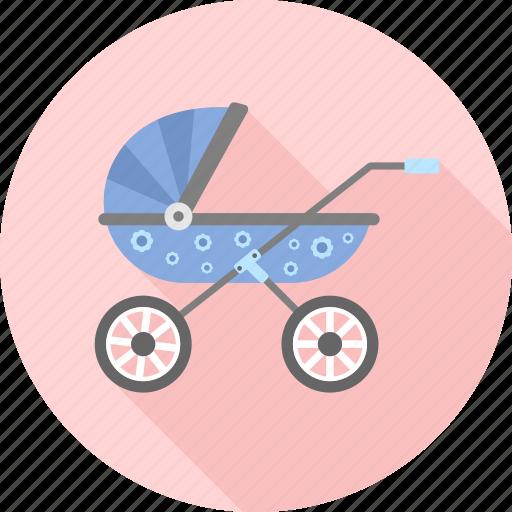 baby, carriage, infant, kid, pram, stroller, toddler icon