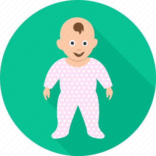 baby, child, happy, infant, kid, smiling, standing icon