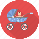 baby, buggy, carriage, child, kid, kids, pram icon