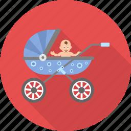 baby, buggy, carriage, child, kid, kids, pram icon