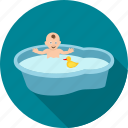 bath, bathing, child, kid, play, playing, swim icon