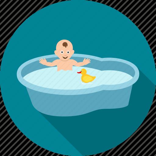 bath, bathing, child, kid, play, playing, swim icon