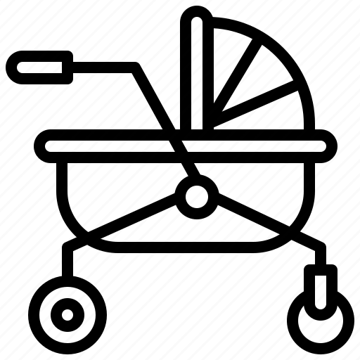 Baby, buggy, crib, kid, pram, pushchair icon - Download on Iconfinder