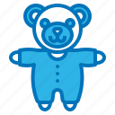 accessories, baby, bear, plush, teddy icon