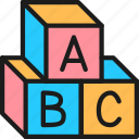 abc, alphabet, childhood, color, cube, letter, toy