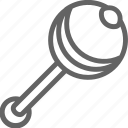 beanbag, child, childhood, line, maraca, rattle icon